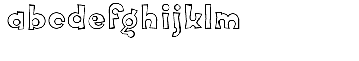 FF Knobcheese Outline Regular Font LOWERCASE