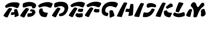 FF Manga Stone Regular Italic Font UPPERCASE