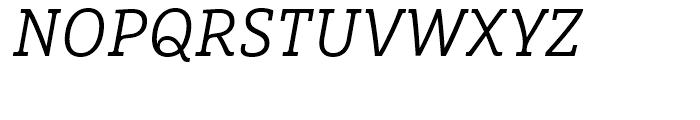 FF Marselis Slab Light Italic Font UPPERCASE
