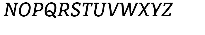FF Marselis Slab Regular Italic Font UPPERCASE