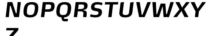 FF Max Bold Italic Font UPPERCASE