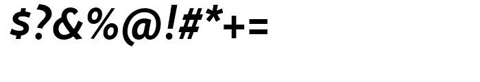 FF Megano Demi Bold Italic Font OTHER CHARS