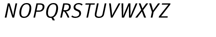 FF Meta Correspondence Regular Italic Font UPPERCASE