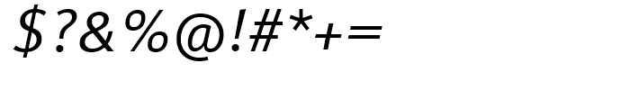 FF Meta Regular Italic Font OTHER CHARS