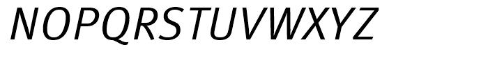 FF Meta Regular Italic Font UPPERCASE