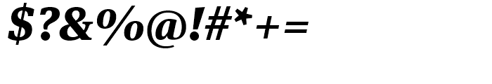 FF Meta Serif Extra Bold Italic Font OTHER CHARS