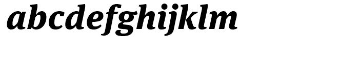 FF Meta Serif Extra Bold Italic Font LOWERCASE