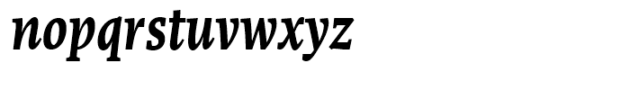 FF More Condensed Bold Italic Font LOWERCASE