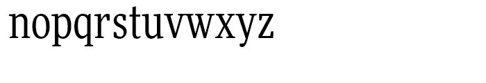 FF More Condensed Book Font LOWERCASE
