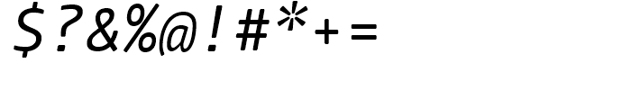 FF Nuvo Mono Regular Italic Font OTHER CHARS