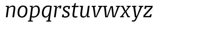 FF Olsen Light Italic Font LOWERCASE