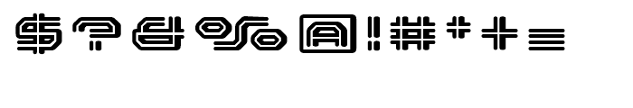FF Outlander Binary Regular Font OTHER CHARS