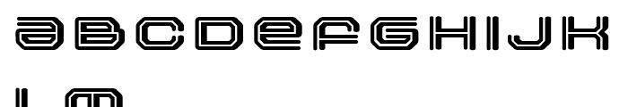 FF Outlander Binary Regular Font UPPERCASE