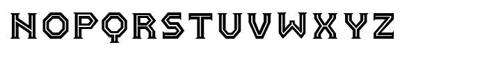FF Pullman Inline Regular Font LOWERCASE