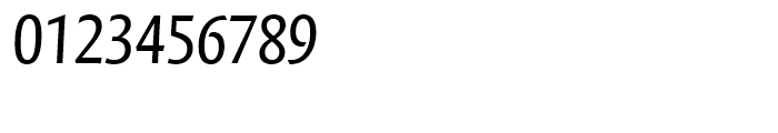 FF Quadraat Sans Condensed Regular Italic Font OTHER CHARS