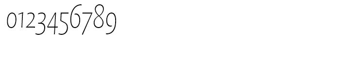 FF Quadraat Sans Condensed Thin Italic Font OTHER CHARS