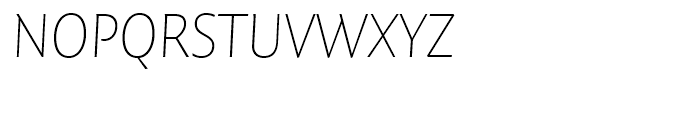 FF Quadraat Sans Thin Italic Font UPPERCASE