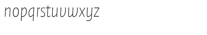 FF Quadraat Sans Thin Italic Font LOWERCASE