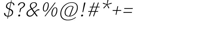 FF Sari Light Italic Font OTHER CHARS
