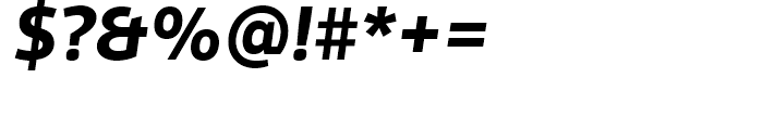 FF Scuba Bold Italic Font OTHER CHARS