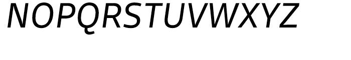 FF Scuba Regular Italic Font UPPERCASE