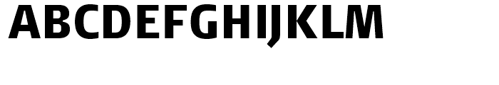 FF Signa Condensed Black Font UPPERCASE
