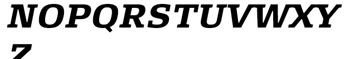 FF Signa Slab Bold Italic Font UPPERCASE