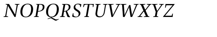 FF Spinoza Regular Italic Font UPPERCASE