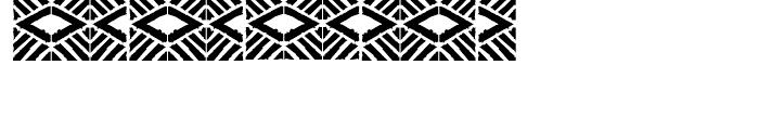 FF Stoned Mosaic Three Font UPPERCASE