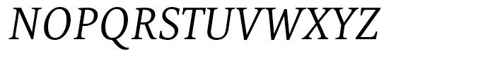 FF Tundra Light Italic Font UPPERCASE