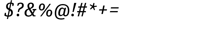 FF Unit Slab Regular Italic Font OTHER CHARS