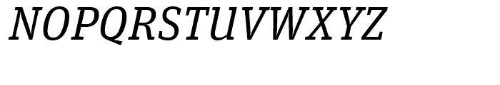 FF Unit Slab Regular Italic Font UPPERCASE