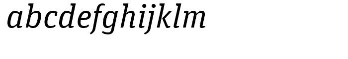 FF Unit Slab Regular Italic Font LOWERCASE