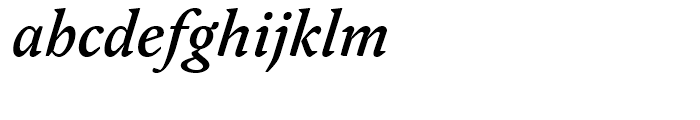 FF Yoga Medium Italic Font LOWERCASE