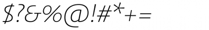 FF Aad Std Light Italic Font OTHER CHARS