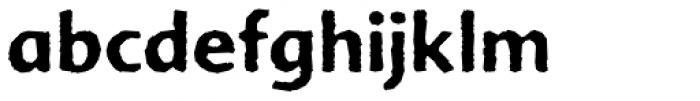 FF Advert Rough Pro Three Font LOWERCASE