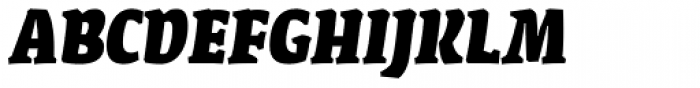 FF Amman Serif Arabic ExtraBold Italic Font UPPERCASE