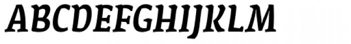 FF Amman Serif Pro Med Italic Font UPPERCASE