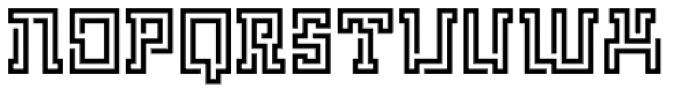 FF Archian Labirintus OT Regular Font UPPERCASE