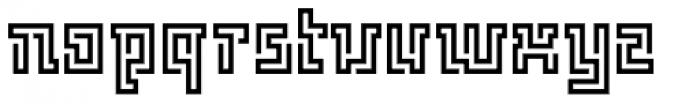 FF Archian Labirintus OT Regular Font LOWERCASE