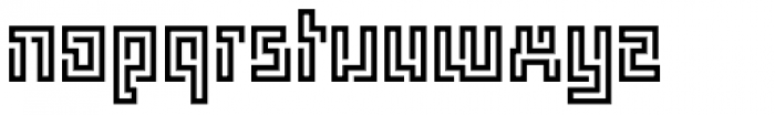 FF Archian Labirintus Sans OT Regular Font LOWERCASE