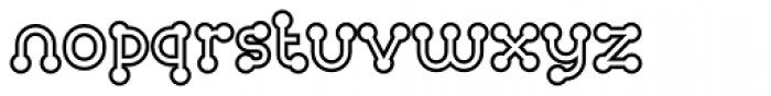 FF Atomium OT Outline Font LOWERCASE