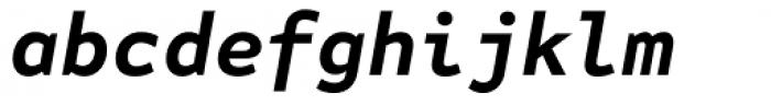 FF Attribute Mono Bold Italic Font LOWERCASE