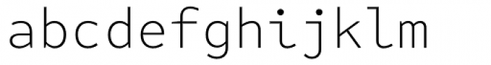 FF Attribute Mono Extra Light Font LOWERCASE