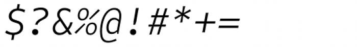 FF Attribute Mono Light Italic Font OTHER CHARS