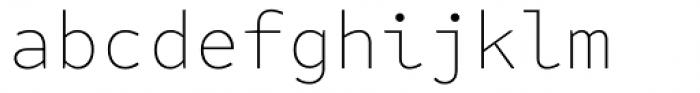 FF Attribute Mono Thin Font LOWERCASE