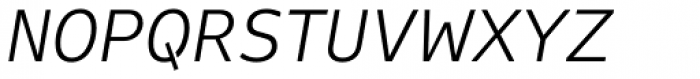 FF Attribute Text Light Italic Font UPPERCASE