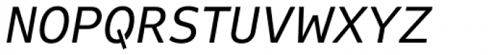 FF Attribute Text Regular Italic Font UPPERCASE