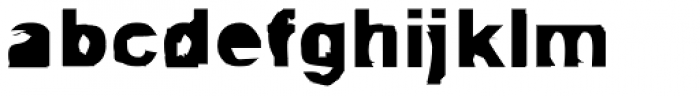 FF Autotrace Double OT Font LOWERCASE