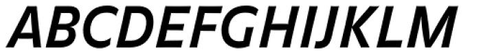 FF Balance OT Bold Italic Font UPPERCASE